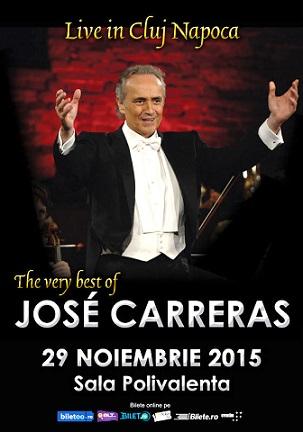 """Jose Carreras va concerta alaturi de Filarmonica de Stat """"Transilvania""""!"""