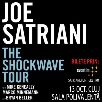 Castigatorul invitatiei duble la concertul Joe Satriani