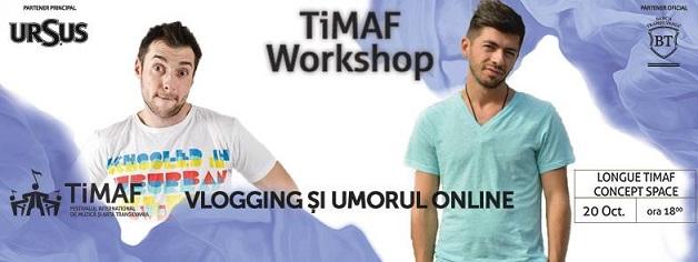 20 octombrie TiMAF: Vlogging și Umorul Online