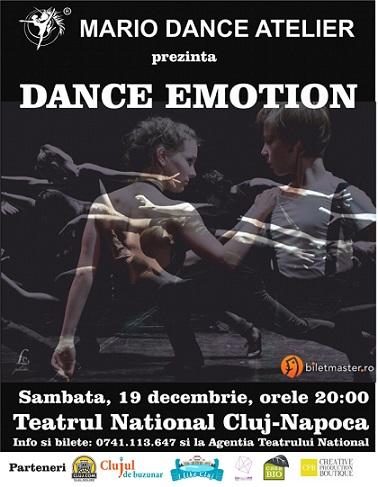Castigatorul invitatiei duble la spectacolul Dance Emotion