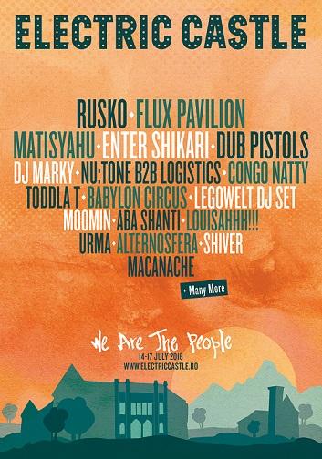 Primii artiști confirmați pentru ediția a 4-a a festivalului Electric Castle