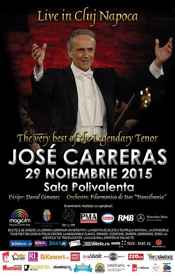 Concert Jose Carreras la Cluj-Napoca: reguli de acces
