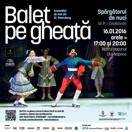 Magia baletului pe gheață revine la Cluj