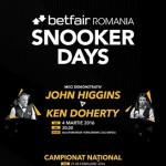 Oferim o invitatie dubla la meciul demonstrativ de snooker