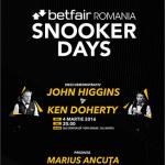 Marius Ancuța prezintă meciul dintre  John Higgins și Ken Doherty de la Cluj