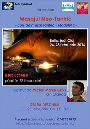 Inscrieri Curs de masaj Tantric
