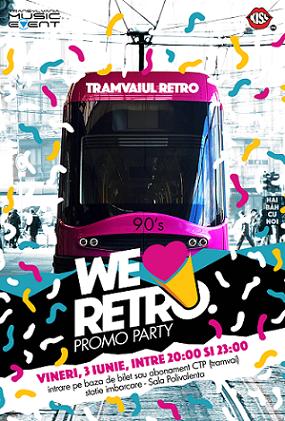 3 iunie Primul retro party în tramvai din Romania