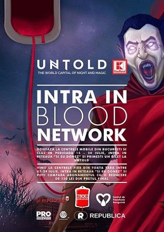 Donează sânge și mergi la Untold!