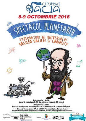 8-9 octombrie Spectacol Planetariu Mobil Educational