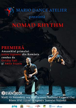 Oferim 2 invitatii duble la spectacolul de dans Nomad Rhythm