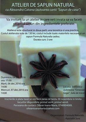 04-07 decembrie Atelier de sapun natural