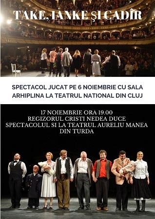Comedia Take, Ianke si Cadîr la Teatrul Aureliu Manea Turda