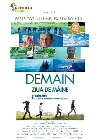 DEMAIN, cel mai bun documentar al anului, ajunge la Cluj