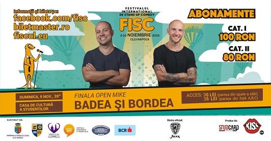 6 noiembrie FISC – Stand-up Comedy Cu Badea si Bordea