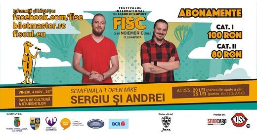 4 noiembrie FISC – Stand-up Comedy cu Sergiu si Andrei