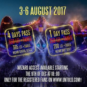 Alte 10.000 de abonamente pentru fanii Untold 2017