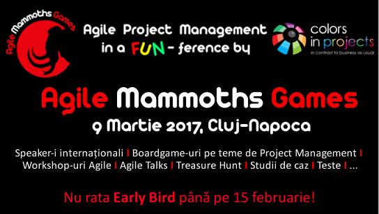 9 martie Agile Mammoths Games
