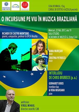 22 februarie Concert de muzică braziliană