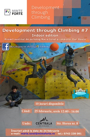25 februarie Development through Climbing
