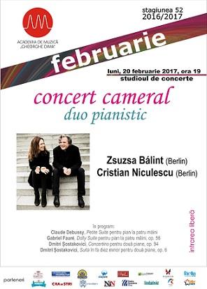 20 februarie Duo pianistic