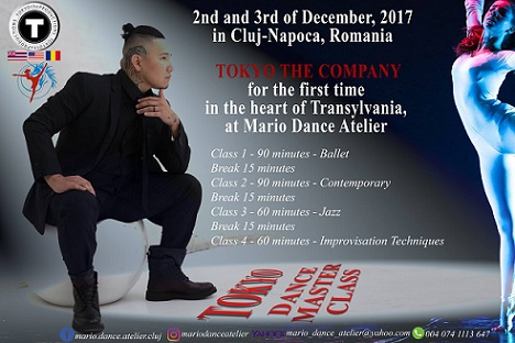 2-3 decembrie Dance Masterclass with Tokyo