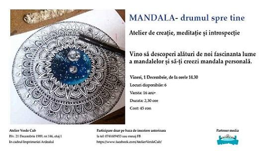 1 decembrie Atelier de creatie mandale, meditatie si introspectie