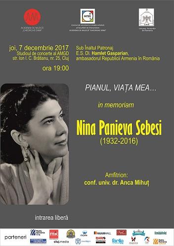 Pianul, viața mea un eveniment in memoriam Nina PANIEVA-SEBESI