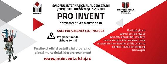 Premiile Salonului Internațional  PRO INVENT 2018