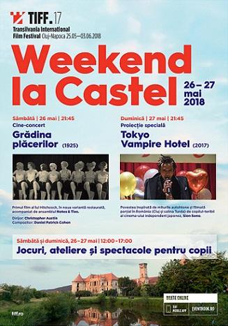 Weekend la Castel: Grădina plăcerilor, primul film al lui Hitchcock și Tokyo Vampire Hotel, fantasy-ul filmat la Cluj, proiectate în premieră la Bonțida
