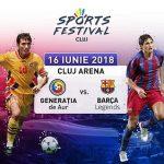 Membrii Barça Fan Club Cluj își vor vedea idolii la Sports Festival