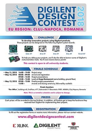 Ediția a XIV-a a Concursului Internaţional Studențesc Digilent, Regiunea Europa