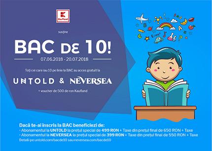 Campania Bac de 10 motivează absolventii de liceu si în 2018