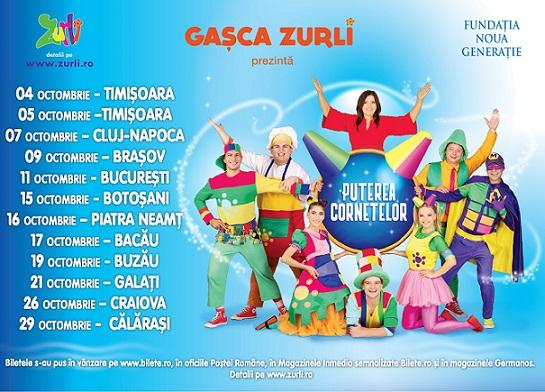 """Castigatorul invitatiei duble la spectacolul Gașca Zurli """"Puterea Cornetelor"""""""