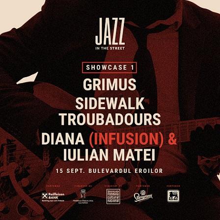 Grimus cântă la Jazz in the Street, în centrul Clujului