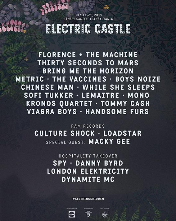 Electric Castle Festival anunță headliner-ii pentru ediția din 2019