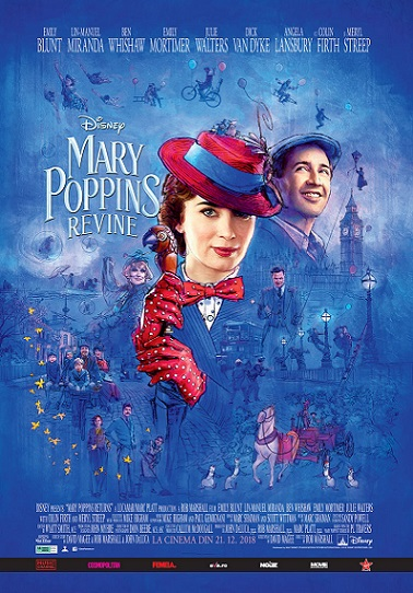 21 decembrie Premiera Mary Poppins Returns
