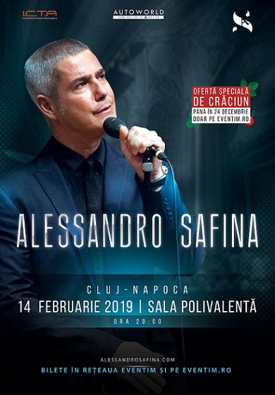 Cadou de Crăciun: ofertă la biletele pentru concertul celebrului tenor italian Alessandro Safina