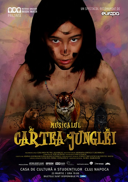 23 martie Musicalul Cartea Junglei