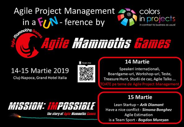 14-15 martie Agile Mammoths Games