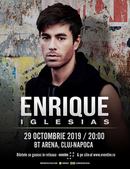 Enrique Iglesias pentru prima dată în Cluj-Napoca