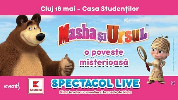 Indragitele personaje Masha si Ursul se intorc cu un nou spectacol in luna mai