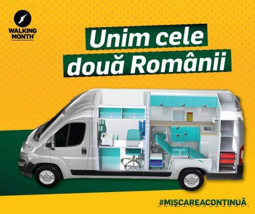 Walking Month 2019 strânge fonduri  pentru prima ambulanță socială din Transilvania