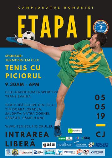 5 mai Campionatul României la Tenis cu Piciorul