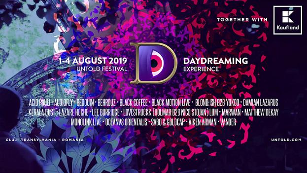 Scena Daydreaming by Kaufland își descoperă numele din line-up -ul ediției aniversare Untold 2019