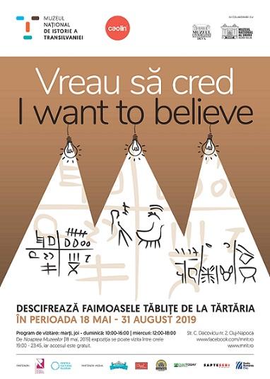 31 august Expozitia Vreau să cred. I want to believe