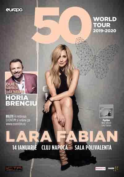 """Lara Fabian revine la Cluj în luna ianuarie 2020, in cadrul turneului """"50"""" World Tour"""