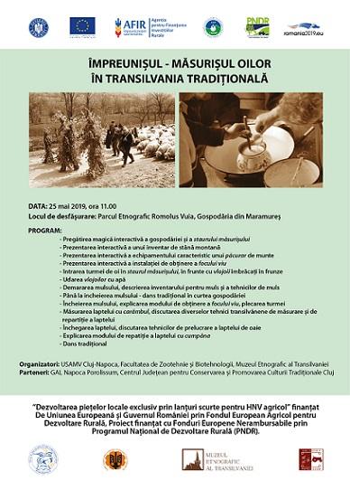25 mai Împreunișul – Măsurișul oilor în Transilvania tradițională