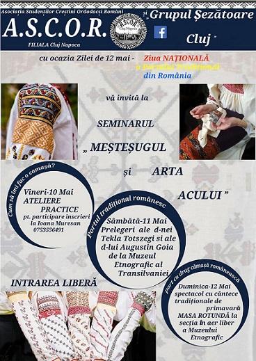 10-12 mai Meșteșugul și arta acului