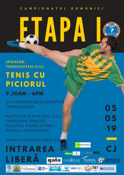 A debutat noul campionat de tenis cu piciorul la Cluj-Napoca