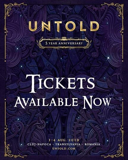 Abonamente și bilete de 1 zi, Untold 2019